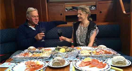 gourmet seafood sailing pyefleet
