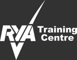 rya training centre logo reversed out