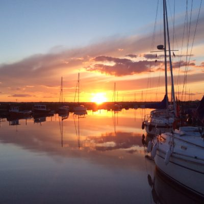 Sunset at Southwold Harbour
