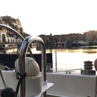 Berthed at Limehouse Basin Marina London