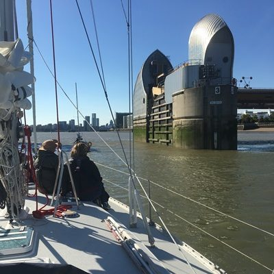 Thames Barrier - Sailing to London